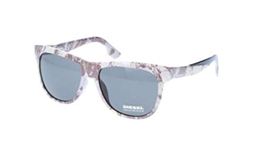 Diesel sonnenbrille dl9076 05n-56-16-145 occhiali da sole, bianco (weiß), 56.0 unisex-adulto