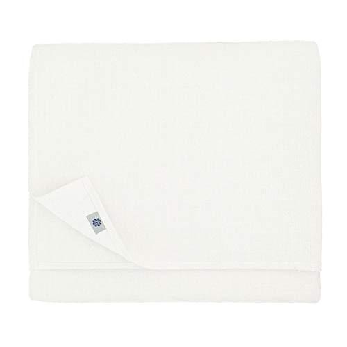 Elegante tovaglia in stoffa bianca quadrata o rettangolare