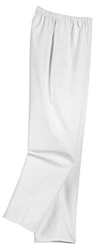 Uvex 81529 Arbeitshose für Damen - Medizinische Bundhose aus 100% Baumwolle - mit Elastischem Stretchbund - Weiß - Größe 46