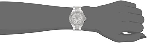 GUESS Women's 37mm Steel Bracelet & Case Quartz Silver-Tone Dial Analog Watch U0111L1