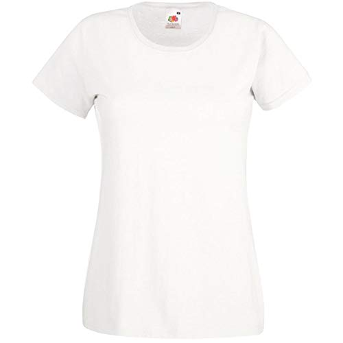 Fruit of the Loom - Lady-Fit Valueweight T - Modell 2013 S,White