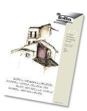 Folia 8354 Aquarell-,Calligraphie-,Urkunden- und Postkartenblöcke Aquarellblock Schule A4