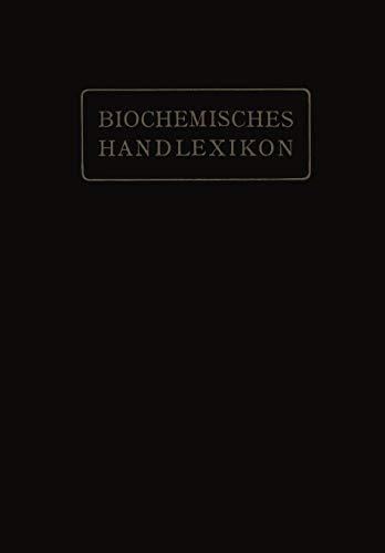 Biochemisches Handlexikon: V. Band: Alkaloide, Tierische Gifte, Produkte der inneren Sekretion, Antigene, Fermente