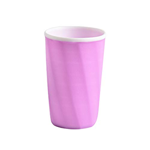 Syeytx Bad Zahnbürste Streifen Cup Zahnpastahalter Stroh Cup Drinking Wash Gargle Cup