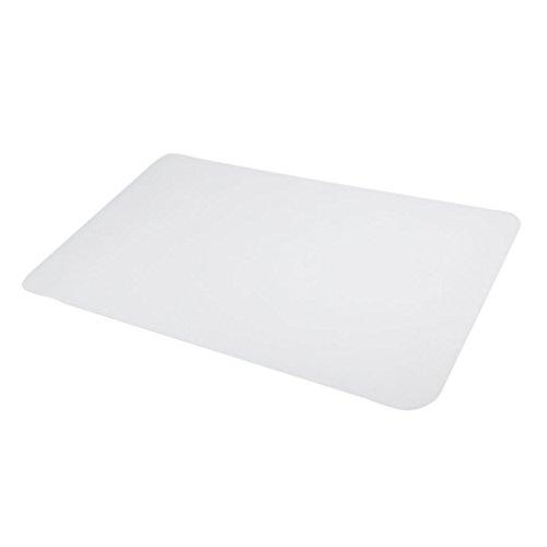 Homgrace Weiß Bodenschutzmatte Bürostuhlmatte Rutschfest Unterlegmatte Bürostuhlunterlage Schutzmatte für Hartböden, Laminat, Parkett, Fliesen und Teppichböden, 6 Größen zur Wahl - 90 x 120cm (Wahl Laminat)
