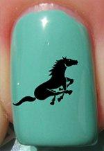 Cheval qui court - Stickers pour ongles YRNAILS