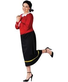 Oyl Olive Popeye Kostüm - California Costumes Olive OYL Plus Kostüm für Erwachsene Einheitsgröße