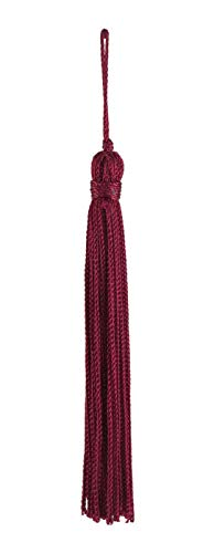 Set von 10Ruby Chainette Quaste, 10,2cm lang mit 2,5cm Loop, Basic Rand Collection Stil # RT04Farbe: ruby-E10 -