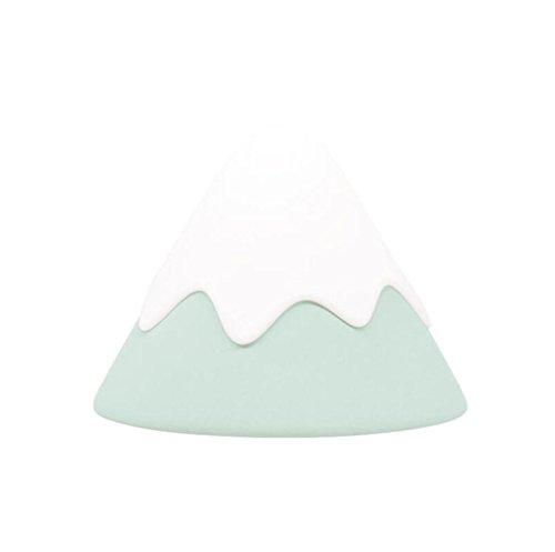 ELEGENCE-Z Tischlampe Schneelampe Kreative Silikon USB Sound Nachttisch Nachtlicht Baby Schlafzimmer Augenpflege Geschenk Lotus Root Pink MintgrüN Hellgrau Geschenke , 5/5000 grēn Grün (Kreisförmige Lampenschirme)