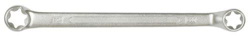 KS TOOLS 911 0365 - LLAVE POLIGONAL DOBLE CON PERFIL E TORX  ACODADO 75°  CROMADO MATE SATINADO  E16 X E22