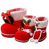 A-szcxtop 3piezas Con Diferentes Tamaño calcetín de Navidad botas de Papá Noel decoración del hogar accesorios para Candy soporte