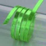 Aludraht eloxiert, Struktur flach 1 x 5 mm, 2 m verschiedene Farben(hellgrün)