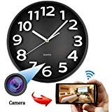 SpyCent WiFi HD Spy Hidden IP Camera DVR Orologio da Parete Real-Time Cam Cam Night Vision