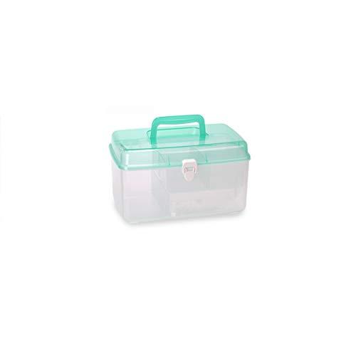Hausapotheke Kunststoff mehrschichtige medizinische Box Erste-Hilfe-Kit für Medizin Erste-Hilfe-Kit Medizin Aufbewahrungsbox CQOQ (Color : Green) -