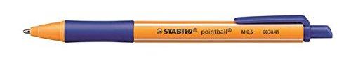 Umweltfreundlicher Druck-Kugelschreiber - STABILO pointball - 10er Pack - blau