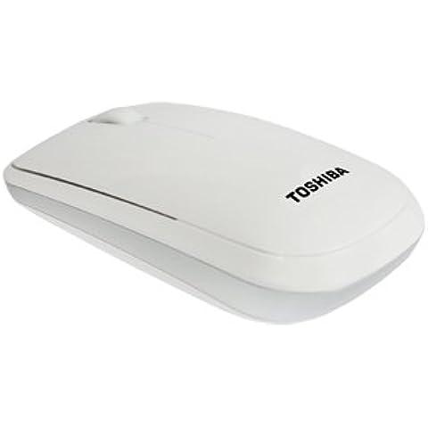 Toshiba PA5155E-1ETW - Ratón óptico inalámbrico, color blanco