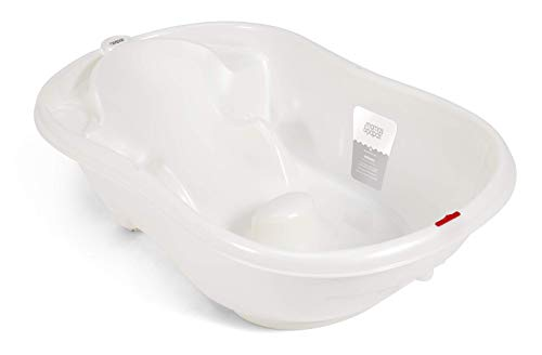 Mamas & Papas Acqua Bambino Two Stage Bath with Safety Support Positions for Newborn Baby to 12 Months - Pearl White