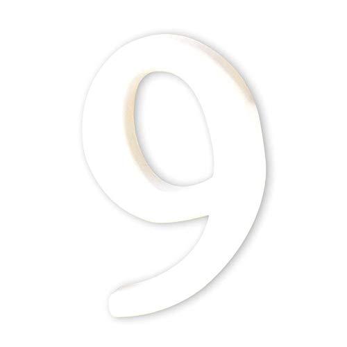 Décopatch AC349O Zahl 9 klein aus Pappmaché, 1,5 x 8 x 12 cm, zum Verzieren, weiß