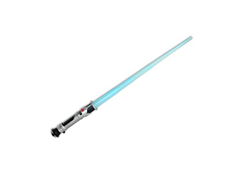 Obi-Wan Kenobi Lichtschwert, Laserschwert, Kostüm/Deco Leutchtschwert blau mit Licht, Star Wars