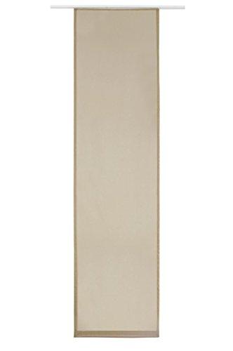 Flächenvorhang Schiebe-Vorhang Schiebe-Gardine Sichtschutz Transparent Unifarben inkl. Zubehör | 245x60cm | Hell-Braun