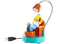 The Simpsons: Homer schwenkbare USB-Schreibtischlampe von wechselnde bei Lampenhans.de