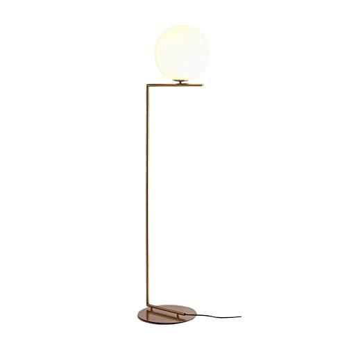 Stehleuchte Moderne Minimalistische Volle Kupfer Kugelförmige Glas Stehlampe Wohnzimmer Schlafzimmer Leuchte Kupfer Hohe Pol Stehende Leuchte Beleuchtung (größe : 162cm) - Pol-leuchten