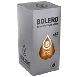 Paquete de 12 sobres bebida Bolero sabor jengibre