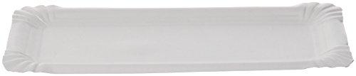 First 210AC11241 Assiette rectangulaire Carton Blanc 11 x 24 x 13,5 cm 250 Pièces