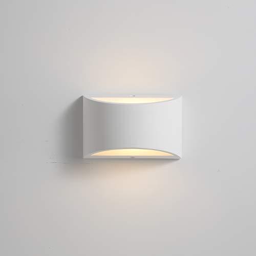 Moderno aplique de pared LED Lado de noche Luz Uplighter Iluminación de 7W Blanco cálido 2700K Lámparas...