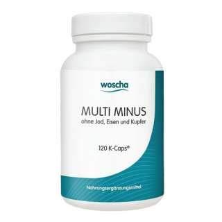 Multi minus - ohne Jod, Eisen und Kupfer, 120 Vcaps - Formel Veg Caps