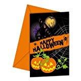 Procos Happy Halloween Einladungskarten mit Umschlag