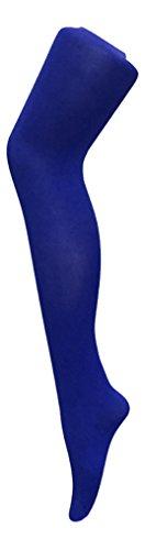 """sock snob - Damen 80 den bunt overknee strumpfhose blickdicht in 10 farbig (Medium 34-39\"""", Royal Blue)"""