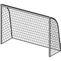 Red de fútbol de tamaño reducido, 4 x 2 m