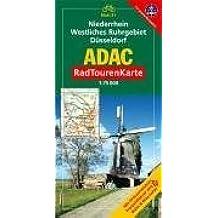 ADAC RadTourenKarte 21 Niederrhein, Westliches Ruhrgebiet, Düsseldorf