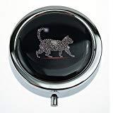 MaXing Cat Custom Personalisierte Silberne Runde Pillendose Box Dekorative Metall Medizin Behälter