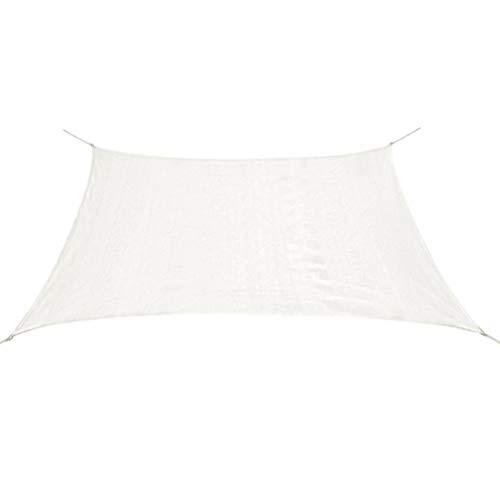 vidaXL Sonnensegel HDPE Quadratisch 3,6x3,6m Weiß Sonnenschutz Beschattung