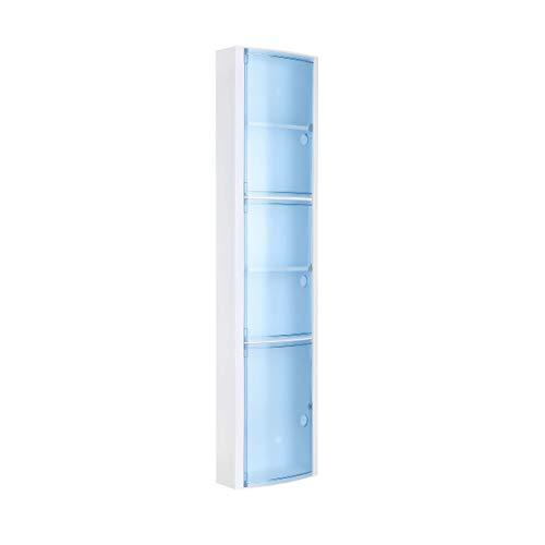Schrank-regal-kit (TATAY 4480000Badschrank, vertikal mit 3Türen Kunststoff blau transparent 22x 10x 90,5cm)