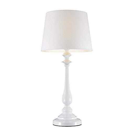 dasmöbelwerk LED Leuchte JORDI Tischlampe mit Schirm Lampe Stehleuchte 64 cm weiß 528669