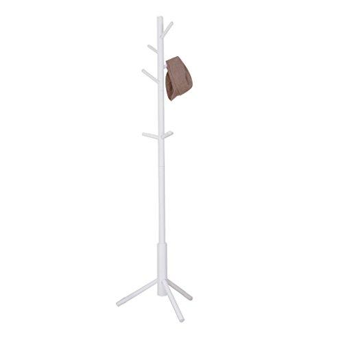 Bambus, Bein, Brust (XX coat stand XiaoXIAO Kleidung hängenden Bambus Kastanien Dressing Girder Brust Tuch Crown Room Hasty Handschuh Rahmengröße: 175x43x4cm Kleiderständer (Color : White))