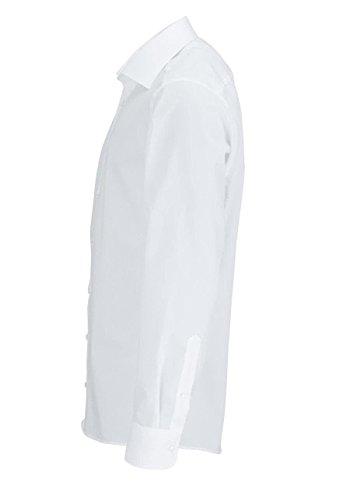 Redmond Hemd Body Cut bügelleicht frenchblue Kent Weiß