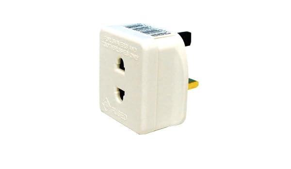 Uk 3 broches secteur à 2 broches 1 amp shaver socket /& brosse à dents adaptateur plug