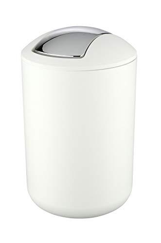 Wenko Brasil Cubo con Tapa 6.5 L, Elastómero Termoplástico TPE, Blanco, 19.5x19.5x31 cm