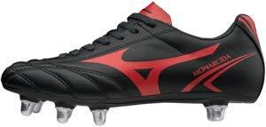 Mizuno Monarcida Rugby Si, Scarpe da Ginnastica Basse Uomo, Multicolore (Black/Red 001), 40.5 EU
