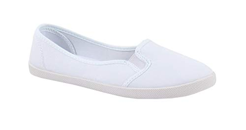 By Shoes - Ballerine Plate en Toile - Femme - Taille 40 - White