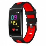 Torus Pro N68 Black/Red Heart Rate Monitor with Oxygen Saturation and Blood Pressure Monitoring, Pedometer Watch Fitness Tracker with Sleep Monitor and Colour Screen, Phone App, USB Charge. by HLC