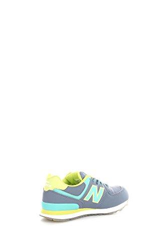 New Balance Unisex-Kinder 574 Hohe Sneakers grau / lime / mint