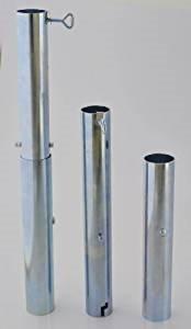 Diamètre 55 mm nexos trading pied de parasol avec extension 510 mm-la sTABIELO ® porte-parasol allemagne-aLUMINIUMHÜLSE-alberts vH 55 l-für bâtons jusqu'à ø 55 mm - 1,6 wanddurchmesser machines mm-aLUMINIUM poli-support de parasol-holly produits sTABIELO ®-fabriqué en innovation aLLEMAGNE-holly-sunshade ®-prix aussi longtemps que les stocks en bade-wurtemberg