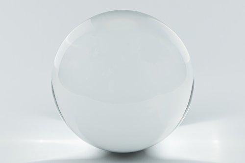 Briefbeschwerer Kugel aus kristallklarem Glas ca. Ø 100 mm, mit Standfläche