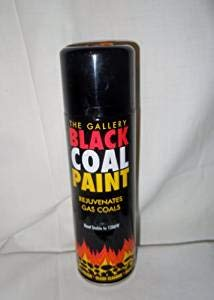 BLACK COAL PAINT SPRAY FOR GAS COALS,STOVE,GRATE,FIREPLACE WOOD OR MULTI FUEL APPLIANCES,FIRE BACKS ,BASKET,PIPE,FLUE,BBQ,AND DIY by The Gallery -