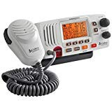 COBRA MRF57 W Marine Radio - White, 2-Way Submersible Long Range Fixed Mount Class-D DSC with NOAA Weather Alerts, 1 or 25 Watt Selectable Output VHF Radio, Illuminated Display, Includes USA/Canada